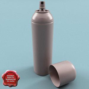 3d spray modelled model