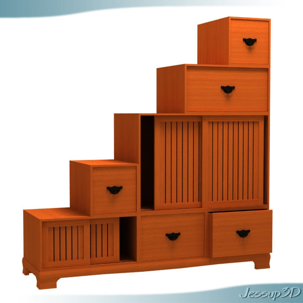 kaidan tiered storage chest obj