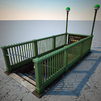 subway entrance v2 3d max