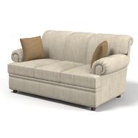 3dsmax traditional classic sofa