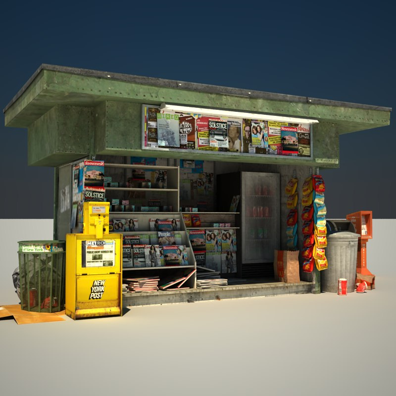news stand 3d model