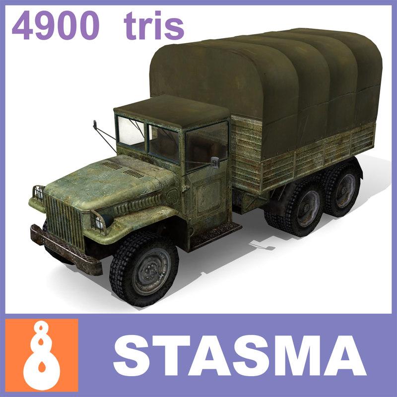 3d model usa military truck