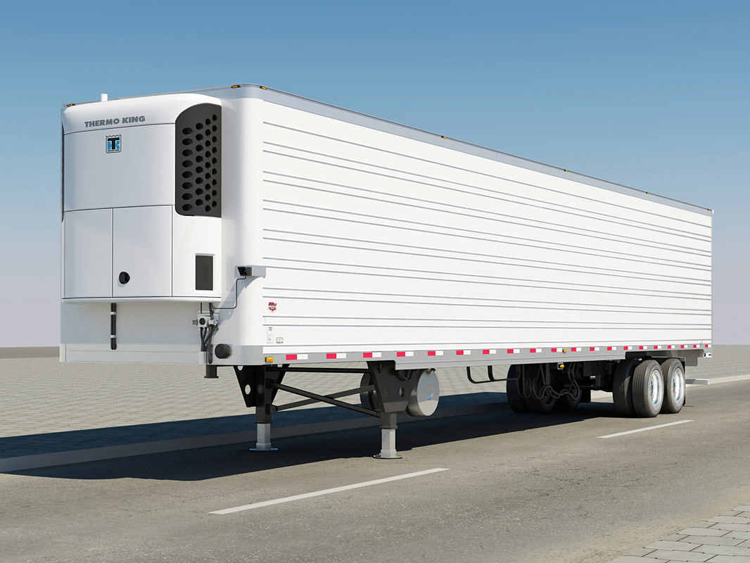3d trailer semitrailer wabash model