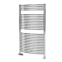 Zehnder Toga Electric Heated Towel Rail  Tec-070 modern contemporary steel chrome