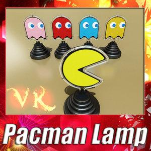 pacman ghost lamp 3d 3ds