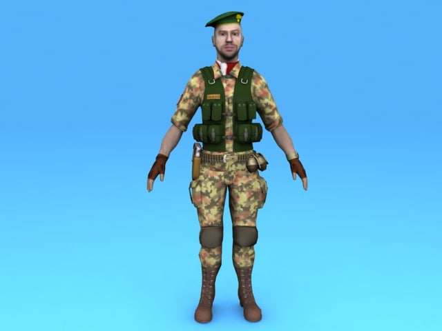 soldier 3d max