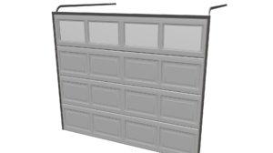 garage door 3d obj