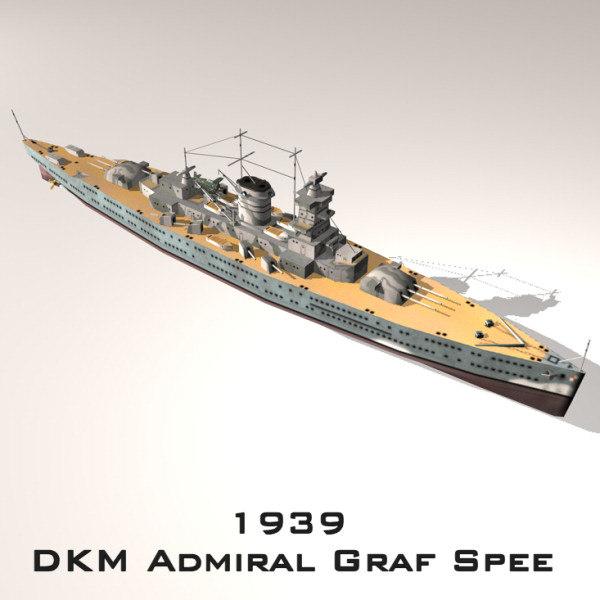 admiral graf spee cruiser 3d 3ds