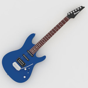3d model electric guitar ibanez