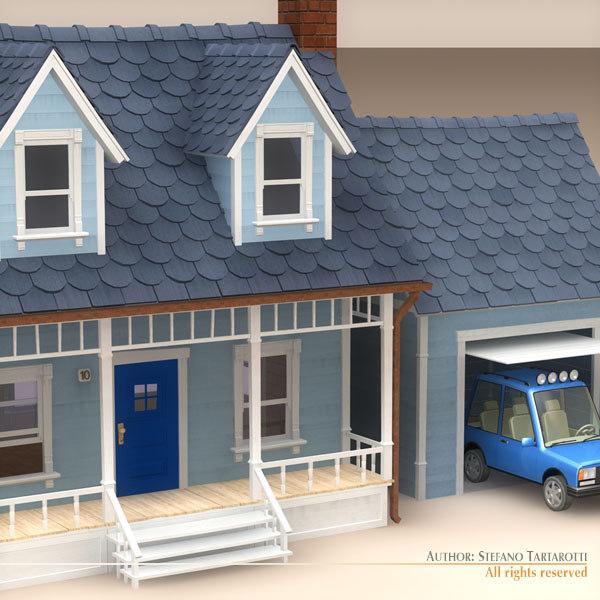 3d model of car garage