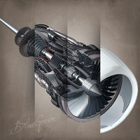3ds max jet engine cutaway cuts