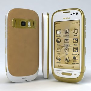 nokia oro white 3d model