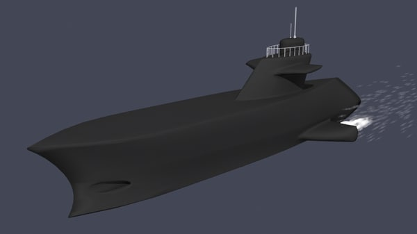 free submarine nautilus 3d model