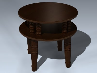 3d wood night stand
