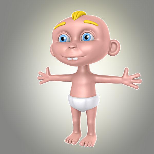 cartoon baby boy lwo