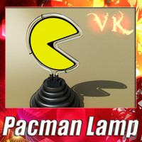 pacman lamp 3d max