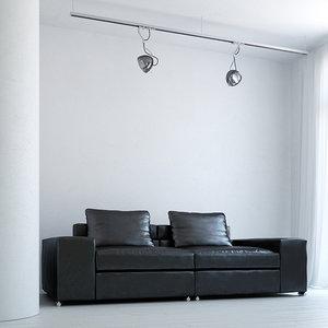 minotti jagger sofa 3d model