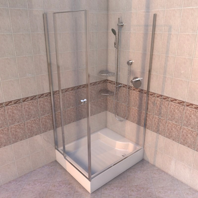 c4d corner shower