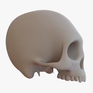s skull 3d 3ds