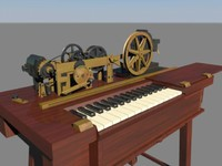3d telegraph machine model