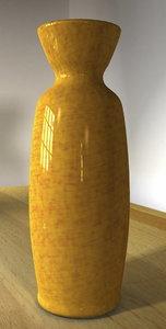 free ceramic pottery vase 3d model
