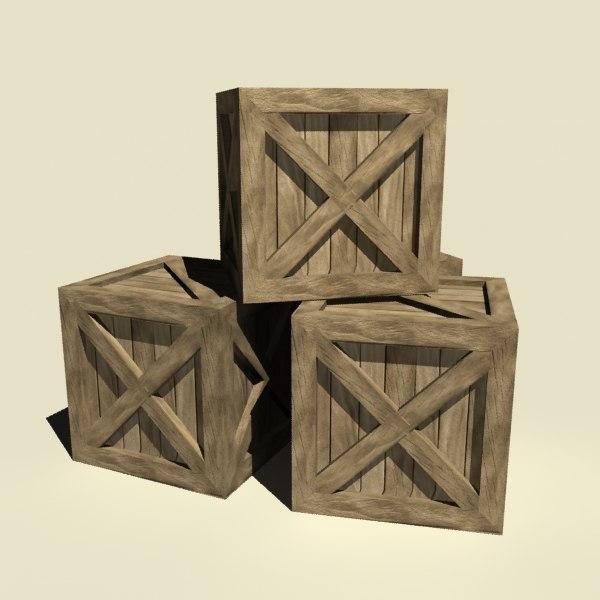 wood box 3ds