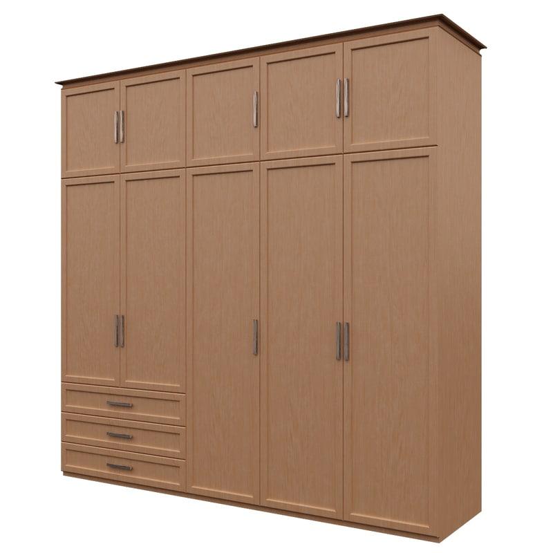 3ds wardrobe dolap cabinet