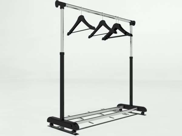 free 3ds model clothes rack hangers