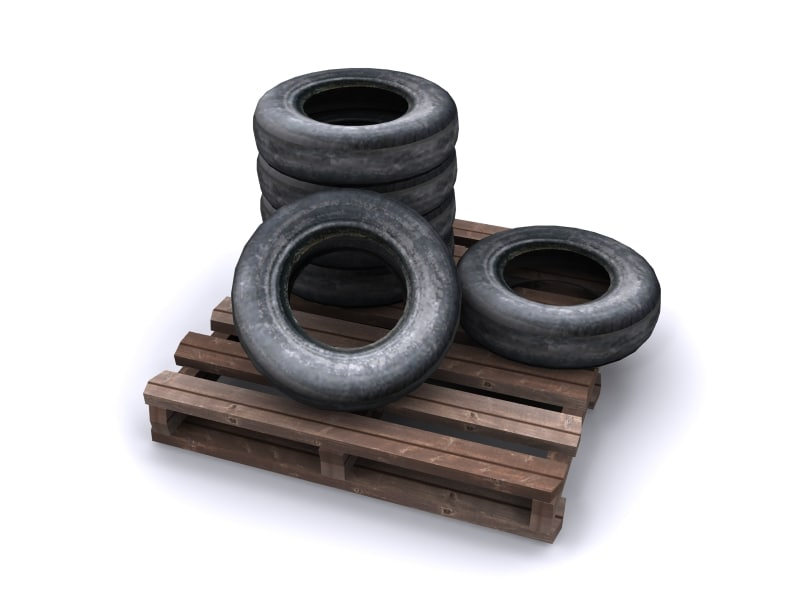 ready wheels set tire 3d model