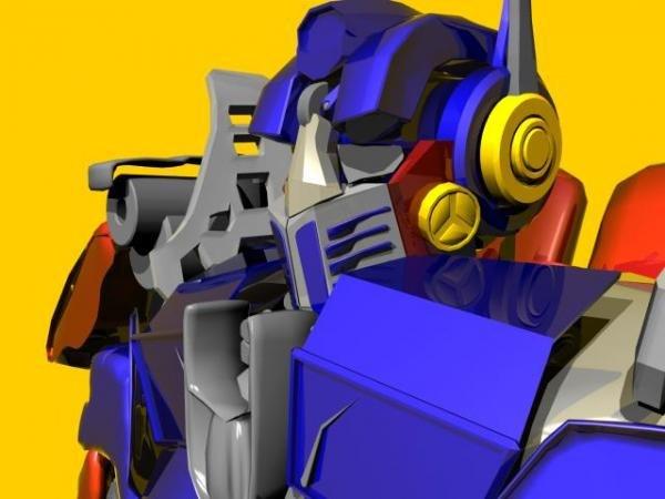 3d character optimus prime model
