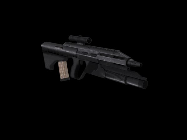 steyr aug a3 3d model