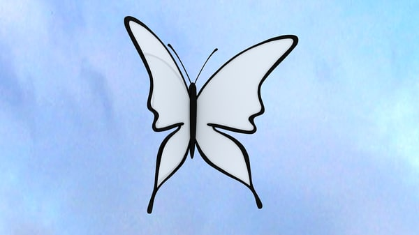 animation butterfly 3d 3ds