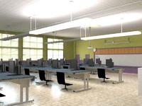 3d blend classroom computer