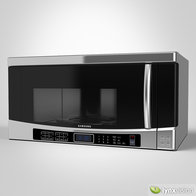 microwave samsung 3d obj