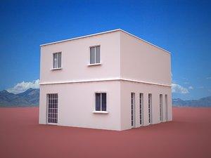 free cubic architecture 3d model