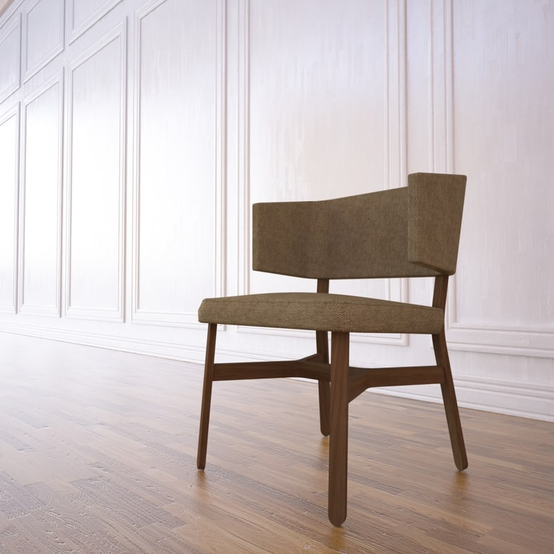 croissant dining chair 3d max
