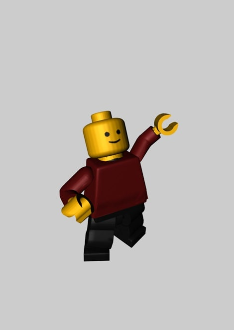 cinema4d lego minifigure rigged