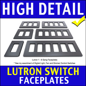 3d lutron light switch faceplates model