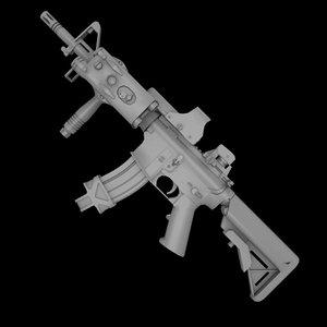 m4 cqb 3d model