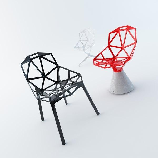 chair magis 3d 3ds