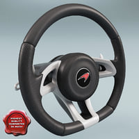 mclaren steering wheel 3d 3ds