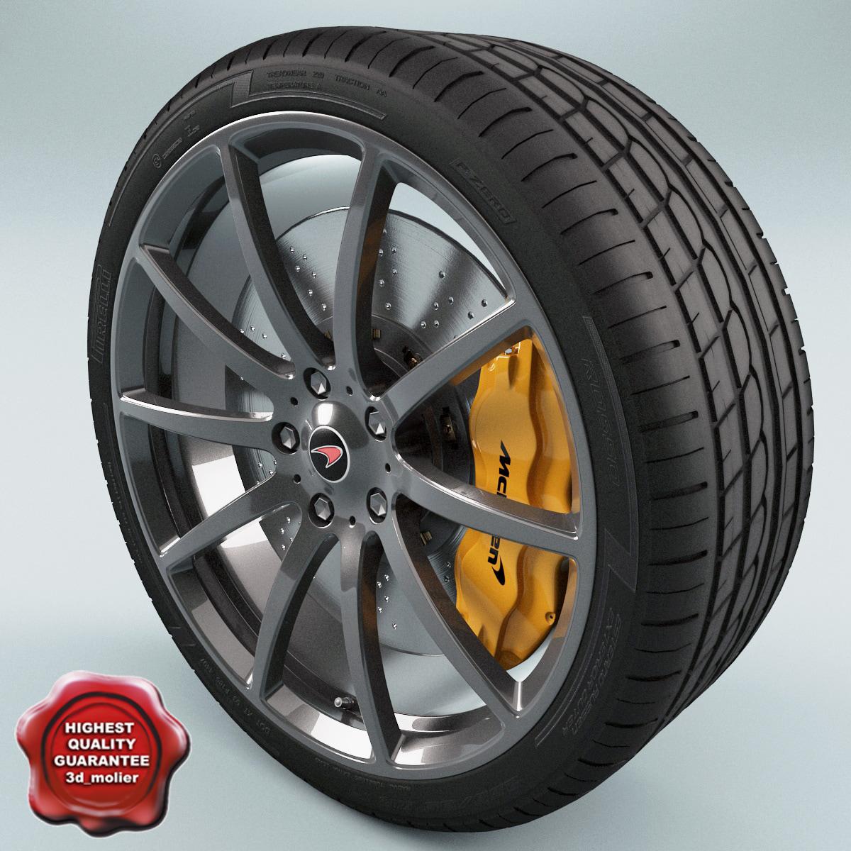 mclaren wheel c4d
