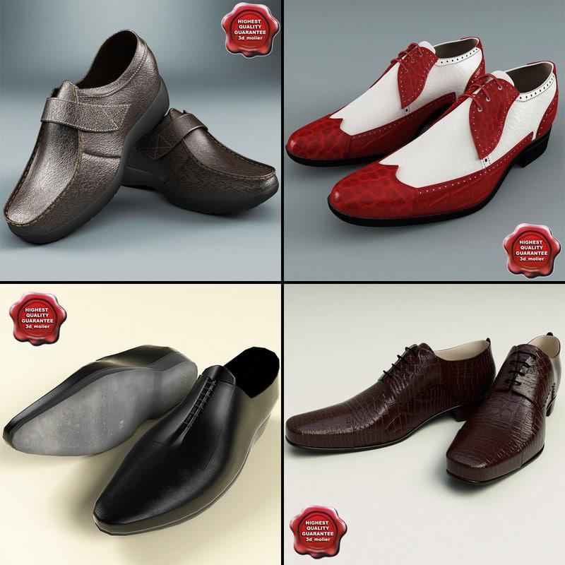 3d model men shoes v2