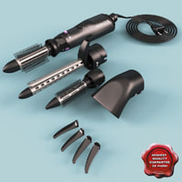 multi airstyler kit remington 3d model