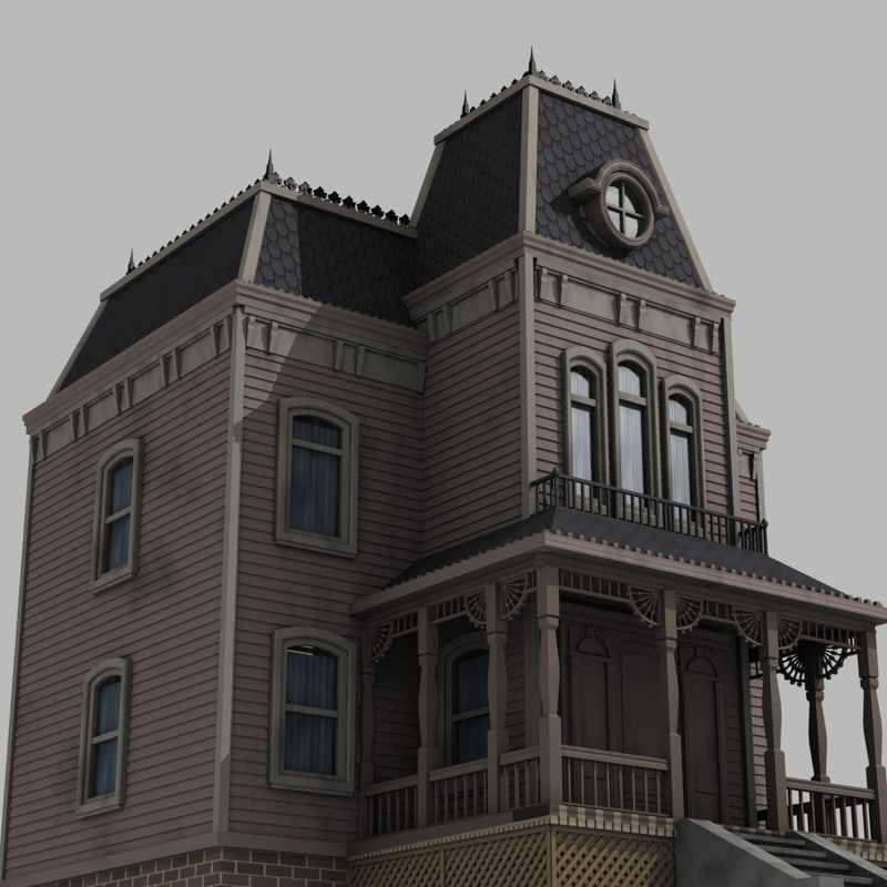 3d model house haunted