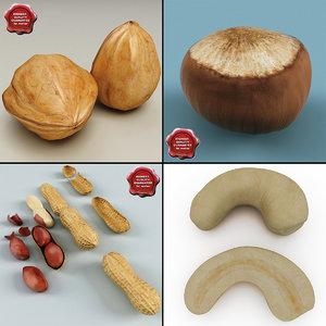nuts set cashew 3d 3ds