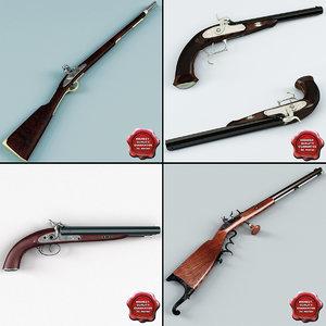 3d model old muskets v3