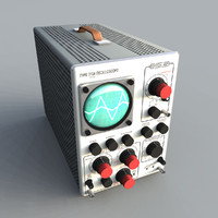oscilloscope testing equipment 3d model