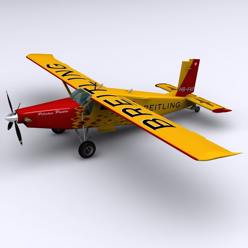 3d pc-6 pilatus porter teams model
