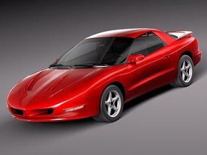 pontiac firebird formula 1993 3d model